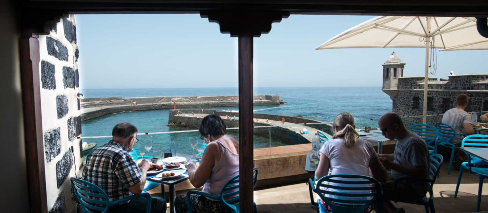Views of the restaurant from the outside terrace